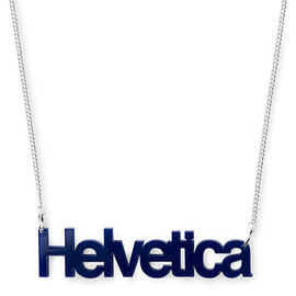 TATTY DEVINE - Helvetica necklace