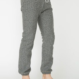 American Apparel - Flex Fleece Boyfriend Sweatpants Peppered Grey
