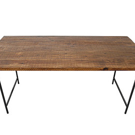 THE DAY STACK - OLD WOOD SIMPLE DINING TABLE -古材シンプルダイニングテーブル- TDS-DT-KS-001