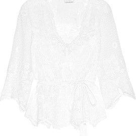 Miguelina - Gertie crocheted cotton-lace top