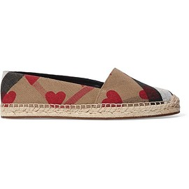 Burberry - Printed canvas espadrilles
