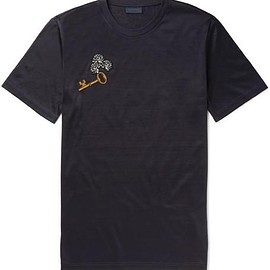 Lanvin - Slim-Fit Appliquéd Cotton-Jersey T-Shirt