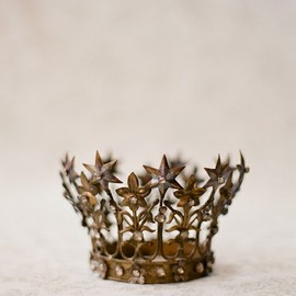 antique french crown by elizabeth messina