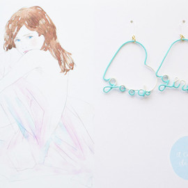 a cloudy dream - ARTY WIRE PIERCE good girl MINT
