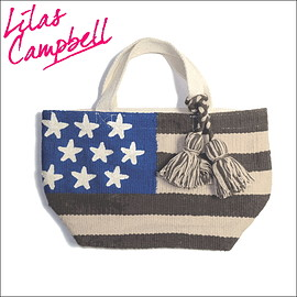LILAS CAMPBELL - Flag tote the US.