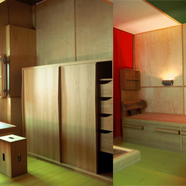 Le Corbusier - Interiors of the Cabanon, Cap-Martin, France