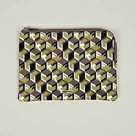 UNDERCOVER - Undercover Medium Zip Wallet in green / brown / white at oki-ni