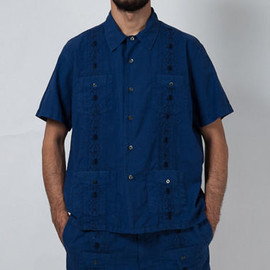 SON OF THE CHEESE - SON OF THE CHEESE/PARTY CUBA SHIRT/NAVY/サノバチーズ