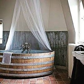 n.a. - wine barrel bathtub