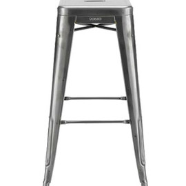 Tolix - H Bar Stool Raw Steel