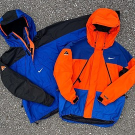 NIKE, Nike ACG - ACG Pullover Jacket - Royal Blue/Black/Orange?