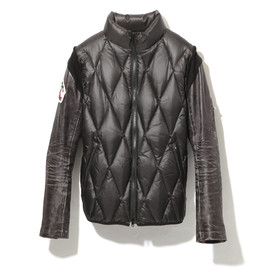 AFFA - leather sleeve down jacket