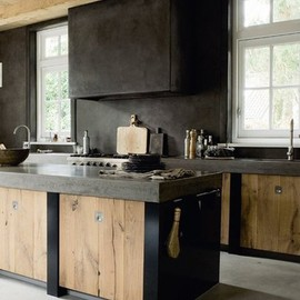Concrete & Oak Kitchen