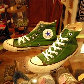 "converse - 「<used>70's converse CHUCK TAYLOR HI green""made in USA"" size:US5 11000yen」完売"