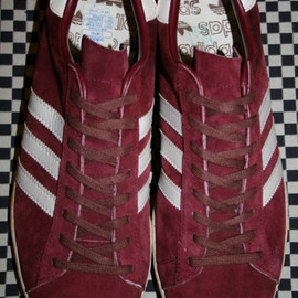 adidas - campus : burgundy suede // made in france