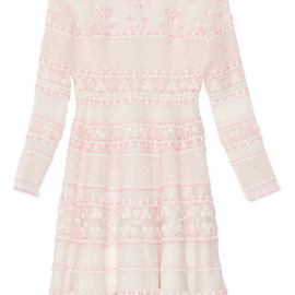 VALENTINO - Avorio Multi Organza Dress