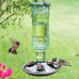 Hummingbirds and feeder.
