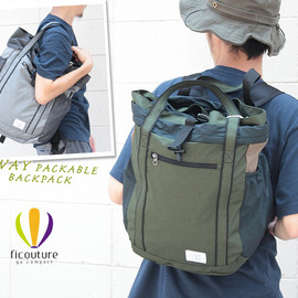 ficouture - ficouture フィクチュール 2way Packable 2ウェイパッカブルバッグ