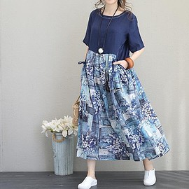 blue casual dress - Linen dress long, summer dress, Linen Maxi dress, blue casual dress, pullover dress
