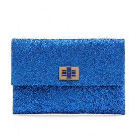 ANYA HINDMARCH - VALORIE PRESSED GLITTER CLUTCH