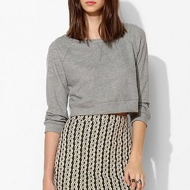 urban outfitters - Cooperative Textured Cable Mini Skirt