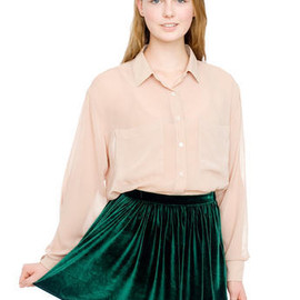 American Apparel - Velvet Full Woven Skirt