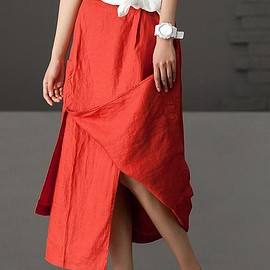 maxi skirt - Linen skirts, women skirts in Brown,red maxi skirt, black summer long skirt, beige skirt