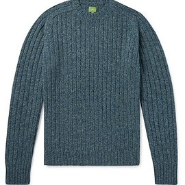 Sid Mashburn - Ribbed Mélange Wool Sweater