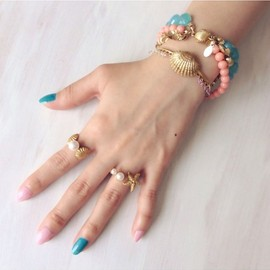 MIUTiE - Starfish and Pearl Ring