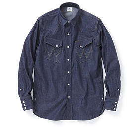 "nonnative - COWBOY SHIRTS ""27MW"" COTTON 8oz DENIM NW by WRANGLER"