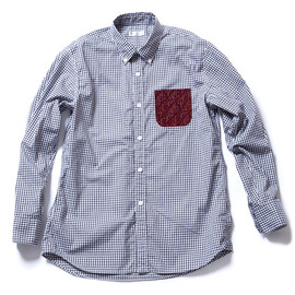 soe shirts - GINGHAM HIGH COUNT OXFORD WITH PRINTED