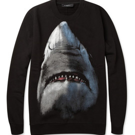 Givenchy - Shark-Print Cotton Sweatshirt