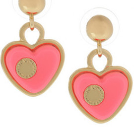 Marc by Marc Jacobs  - Heart brass and acetate earring