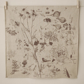Joanna Concejo - Linen towel illustrated by Joanna Concejo