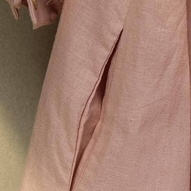 Shirt dress in Pink, Plus Size dress,long Shirt, Linen top, maxi Linen dress,summer dress