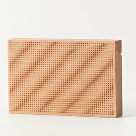 CEMENT PRODUCE DESIGN, Card Chest - hollow stripes / birch