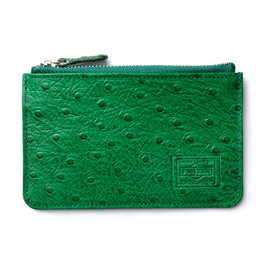 "HEAD PORTER - ""OSTRICH"" COIN CASE GREEN"