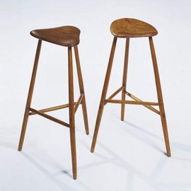Wharton Esherick - Three legged high stools