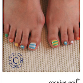 coquine nail - Colorful border