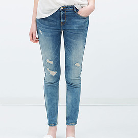 ZARA - Skinny damaged jean