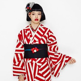 Furifu ふりふ - kimono collection - Red model - 2014