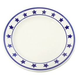 Fishs Eddy - blue star plate