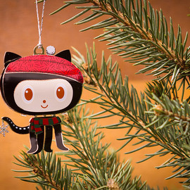 GitHub - Octocat Holiday Ornament