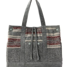 White Mountaineering×PORTER - RING YARN BLANKET BORDER TOTE BAG