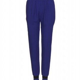 Stella McCartney - CREPE TROUSERS WITH STPRIPED KNIT CUFFS