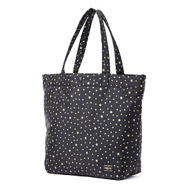 "HEAD PORTER - ""STELLAR (NEW)"" SHOPPING BAG (L) BLACK"