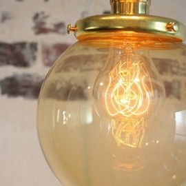 Point No.39 - Glass shade lamp (S size/Amber) *OPL006