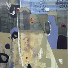 untitled, 2012, acrylic on crescent board