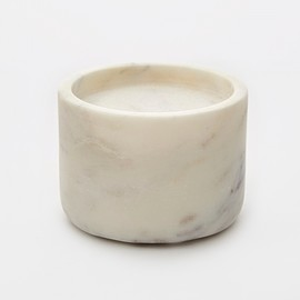 Broste - Candle Holder 'Lova' Marble White - Large 6cm