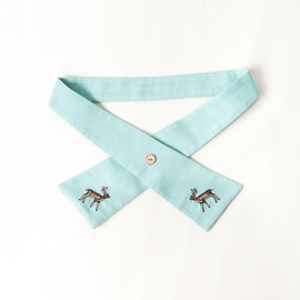 book of deer - Brownie Tie- Aqua Green